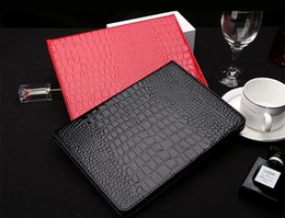 Wholesale Ipad Croco - Luxury Brand Fashion Crocodile Croco Leather Flip Case Cover For iPad Air2 air 2 5 iPad 2 3 4 iPad Mini mini4 Cases