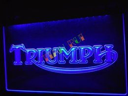 Wholesale Repair Sign - LG051-b Triumph Motorcycles Services Repairs Neon Sign home decor shop crafts led sign