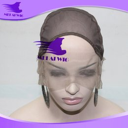 Wholesale Stretch Lace Front Wigs - Gluless lace Front Wig Cap Mesh Net Stretch Weaving Cap High Quality Frech Lace inside inner caps net sale wig making b4