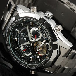 2019 großgesichtige uhren Großhandels-HK geben Verschiffen-Mann-automatische Selbstwind-Bewegungs-Uhr-schwere Stahl-große Gesichts-Entwurfs-Armbanduhren Mens-Taktgeber frei rabatt großgesichtige uhren