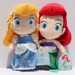 """Wholesale Little Mermaid Princess Toys - Cinderella & Little Mermaid Princess Stuffed Plush Doll Toy 30cm 12"""" High Quality Plush Eco friednly PP conton"""