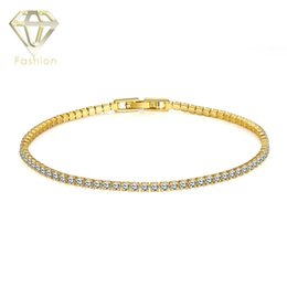 Wholesale Toggle Clasps For Bracelets - New Simple Style Beautiful Handmade 18K Rose Gold Plated Inlaid CZ Diamond Bead Chain Bracelet Rhinestone Bangle for Women