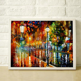 hand painted oil paintings Coupons - 100% Hand Painted Landscape Frameless Painting Thick Texture Color High Quality Canvas Home Decor Mural JL072