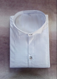 Wholesale Pinstripe Shirts - New Arrival 100% Cotton Boy's Wedding Shirt Kid Shirts White Colors Children Shirt (80 90 100 110 120 130 140 150) J801
