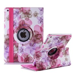 Wholesale floral ipad cover case stand - Lucky Flower Sweet Floral girl's Leather case for iPad Air 2,360 Leather Cases Stand Cover for Apple iPad Air 2  iPad 6