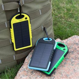 Wholesale Laptop Portable Battery - Portable Solar Charger Power Bank Panel 5000mah 12000mah For Moblie Phone CellPhone Smartphone 2 USB Ports Waterproof Outdoor Solar Battery