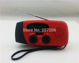 Wholesale Solar Dynamo Charger Flashlight - Dynamo Self Powered FM AM Radio Flashlight & Outdoors Phones Chargers Solar Charger Free Shipping charger gold