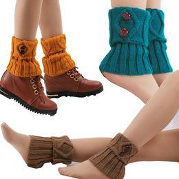 Wholesale Warm Christmas Socks - 10 colors winter cute cartoon socks women lace flat warm wool knit handmade short leg warmers Christmas birthday gift 12pairs