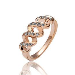 2019 diamante de ouro coreano Anéis para as Mulheres Alianças de Casamento Vestido Rose Gold Filled Anéis de Noivado Moda Jóias Coreano Marcas Anéis de Ouro Anéis de Diamante Maçônico desconto diamante de ouro coreano