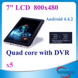Wholesale United Core - New 7 inch Car GPS Navigation Android 4.4 Quad core Car dvrs Recorder Camera Tablet PC Truck vehicle gps 8GB Free map 5pcs ZY-DVR-001