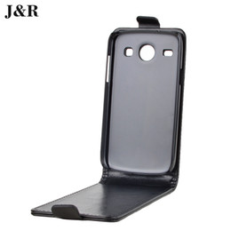 Wholesale Galaxy Core Flip Cover - Wholesale-J&R Brand Leather Case for Samsung Galaxy Core i8262 i8260 High Quality Flip Cover for Samsung i8262 Case 9 Colors in Stock