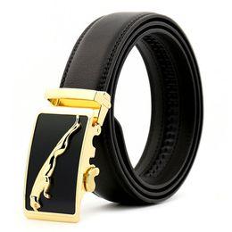 belt jaguar 2018 - New High luxury designers Men s jaguar automatic buckle  black belt Designer Belts 6b121060a8e