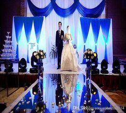 25 M par lot 1 m de large argent miroir en plastique tapis coureur allée pour la mode mariage centres de table fournitures fournitures DHL livraison ? partir de fabricateur