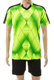 Wholesale athletics clothing - Customized Popular Cheap Athletic Soccer Sets,High quality Jersey With Shorts,15-16 new Season Training Sports clothes,Outdoors Soccer Wear