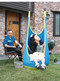 Wholesale Babies Swinging Chair - Wholesale- New Baby Hammock Pod Swing Chair Reading Nook Tent Indoor Outdoor Baby Chair Hammock Kid Baby Swing Relaxing Chair