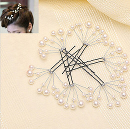 Wholesale Hair Made Plate - 2016 Romantic Trendy Classical Charming Hand Made Pearl U Shape Bridal Hairpin Wedding Hair Accessories Party Gift For Women