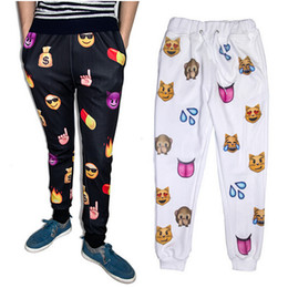 Wholesale Harem Pants Purple Men - Newest Fashion Emoji Jogger Men Pants Sport 100 Black Jogging Cartoon Pants Mens Harem Sweatpants Trousers