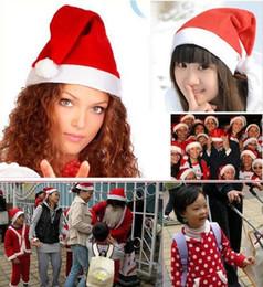 2019 miroir de capot Décoration De Noël Chapeaux Haute Qualité Chapeau De Noël Santa Claus Chapeau Mignon Enfants Enfants Adultes Non-Tissé X Mas Partie Cosplay Chapeaux JJD2006