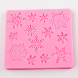 Wholesale Snowflakes Cake Mold Silicone - 3D Christmas Snowflake Shape Silicone Cookie Mold Candy Cake Decorating Tools Kitchen Baking Decorating Tool TY1747