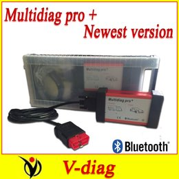 Wholesale Diag Box - Wholesale-plastic box 2014 Bluetooth Multidiag pro + multi diag cdp pro plus powerful muti-diag pro 2014 R2 version,the same with cdp