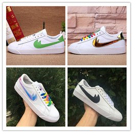 Wholesale Red Blazers Shoes - 2017 New Unveils BLAZER LOW PRM VNTG Running Shoes Men Women Ancient Cheap Walking Boots Men Women Gazelle Shoes Size Eur 36-45