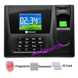 Wholesale Time Recorder Machine - 2.8 inch Time Recorder Clocking Attendance in Clock Machine Fingerprint  Password ID Card AC-020 Free Shipping