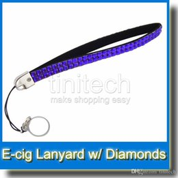 Wholesale Necklace Ego Diamond - Brand New EGO silk Lanyard with diamond for eGo t eGo w eGo c eGo k 10 colors mixed ego diamond lanyard necklace nice for ego series battery