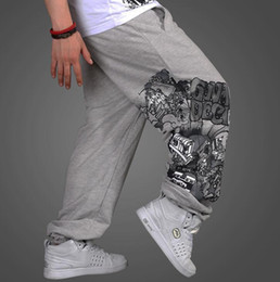 Wholesale Full Thickness - New Men's clothing thickness Hip-hop loose movement sweat pants leisure trousers rhino who pants Size:M-3XL