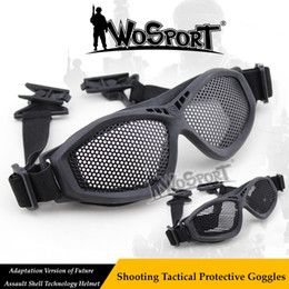 Lunettes de sécurité WoSporT Tactical paintball Acier Net Mesh FAST casque  Lunettes de tir en plein air Lunettes de soleil de chasse Airsoft promotion  ... 0e9745b320fe