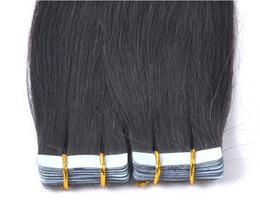 Wholesale Brown Skin Light Hair - New arrival Brazilian Virgin hair extension straigh tape skin weft hair extension 100g color #1B off black Brazilian hair free shipping