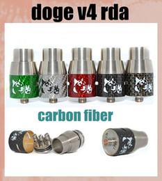 Atomizador rda doge on-line-Doge V4 Atomizador de fibra de carbono Doge V4 Rebuildable RDA Doge Tanque Dripper SS Bronze De Cobre preto fit Mecânica Mod 22mm Navio Livre atb297