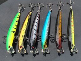 Wholesale Deep Diving Minnow - Fishing Artificial Lure Minnow Bait 10cm 9g 0.5-1.5m Dive Deep Hard Baits Hooks 10pcs lot