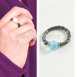 Wholesale Hematite Ring Beads - Wholesale 10pcs 2014 Fashion High Quality Round Bead Semi-precious Stone Stretch Hematite Finger Ring Shining Women Rings