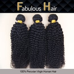 Wholesale 5a Unprocessed Virgin Hair Curly - Fabulous Grade 5A Double Wefted 8-24inch Virgin Kinky Curly Peruvian Hair Extension Remy Hair Weft Unprocessed Human Hair 3pcs Per Lot