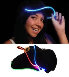 Wholesale Led Light Cotton Ball - Light up Adult Ball Hat Cap LED Light up Hat Hands Ornament Hats Dancing Party Hat stage Caps Christmas Party Hat J120904#