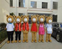 2019 traje de mascote de urso de pelúcia de adultos 2017 venda Quente Profissional personalizado Teddy Bear de TED Traje Da Mascote Ted urso traje para adultos animais mascote traje festival fantasia traje de mascote de urso de pelúcia de adultos barato