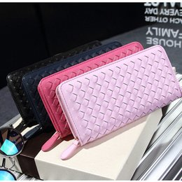Wholesale Korean Couple Wallet - 2016 new Hot!wallet female couple models big knit zipper wallet Ms. Bags, Luggages Long clutch wallet
