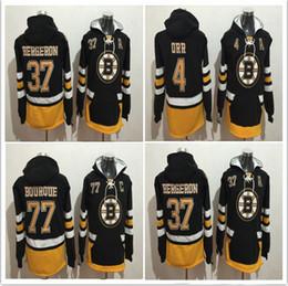 Top Sale 2017 Winter Boston Bruins Hockey 4 Bobby Orr 37 Patrice 77 Ray  Bourque Hoodies Jersey 0d11c4e3d