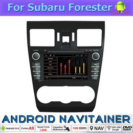 Wholesale Dvd For Subaru Forester - 2 Din Auto Radio Player in Car Dvd Android 4.4 System for Subaru Forester 2013 Bluetooth GPS Usb Car Navigation Multimedia Player