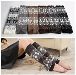 Wholesale girl knit boots - Christmas Long Knitted Leg Warmers Autumn Winter Long Boot Cover Christmas Elk Snowflake Boot Socks OOA3624