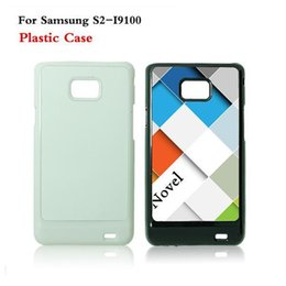 Wholesale Transparent Case S2 - Samsung Galaxy S2 i9100 Cases DIY 2D Sublimation Heat Press PC Cover Case With Blank Metal Aluminium Plates DHL Free Shipping
