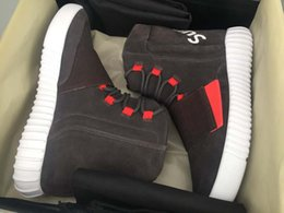 Wholesale Knee High Canvas Sneaker Boot - New 2018 High Quality Boost 750 Kanye West Shoes 750 Boost Men Boots Sports Shoes Sneakers