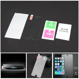 Wholesale Iphone 4s Scratch Guard - for iPhone 6G 6 Plus 6+ 5 5S 5C 4S 4G S6 NOTE3 NOTE4 0.26mm 2.5D 9H Gorilla Tempered Glass Screen Protector Film Guard with Retail Packaging