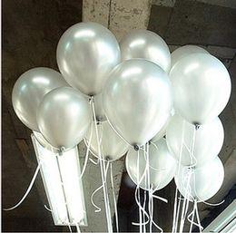 Wholesale Outdoor Christmas Balloons - Free Ship 100pc Lot 10' Inch1.5g Silver Balloon Christmas Outdoor party Decoration Christmas Supplies Latex Balloon