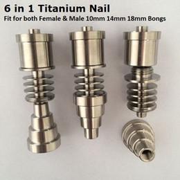 Canada Gr2 G2 titane titane Ti clou 6 en 1 Fit pour les deux hommes femelle 10mm 14mm 18mm verre Bong tuyau d'eau pour électronique Dabber Nail Box Kit Offre
