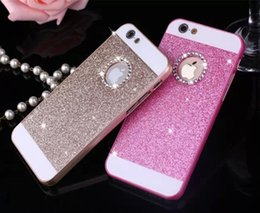 Wholesale Silver Diamond Phone Cases - iphone6s plus iphone7 plus Luxury Bling glitter phone case hard PC diamond cases cover for iphone5S Sansung crystal strass rhinestone case