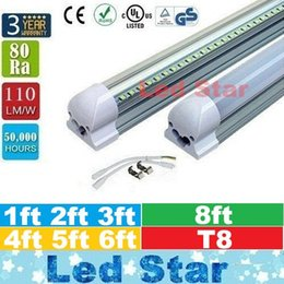Wholesale Tube Lights Covers - led tube lights 8ft 6ft 5ft 4ft 3ft 2ft 1ft Integrated T8 Tube Lights 110lm W Frosted Transparent Cover AC 85-265V UL DLC