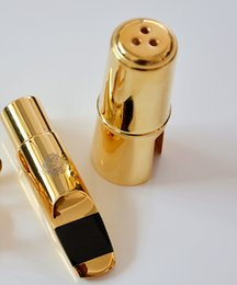 Wholesale Saxophone Selmer - SELMER ALTO E flat Eb SAX Metal Mouthpiece # 7 Size for Saxophone Beginner GOLD plated Saxe