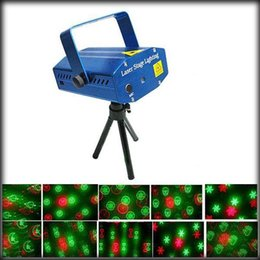 Wholesale Ems Mini Laser - Wholesale-by dhl or ems 50pcs New Blue Mini Projector Red &Green DJ Disco Light Stage Xmas Party Laser Lighting Show, Free Shipping