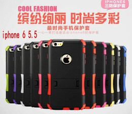Wholesale Stand For Galaxy S3 - Hybrid Heavy Duty Defender Case Combo Belt Clip Holster Stand Cover for iphone 5 5s 6 plus samsung galaxy s3 s4 s5 iphone6
